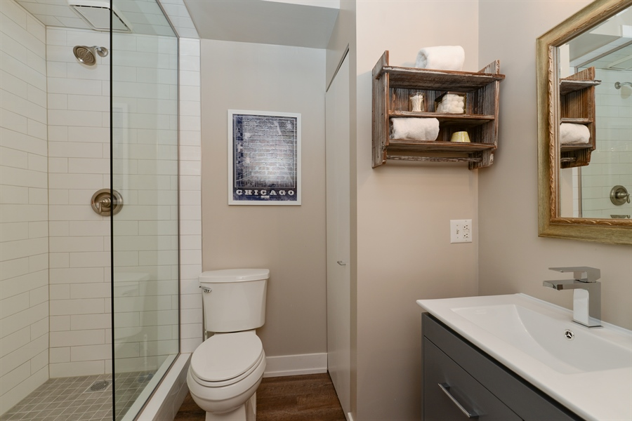 Real Estate Photography - 110 N. Peoria St., 205, Chicago, IL, 60607 - Master Bedroom