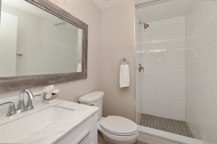 Real Estate Photography - 110 N. Peoria St., 205, Chicago, IL, 60607 - 2nd Bathroom