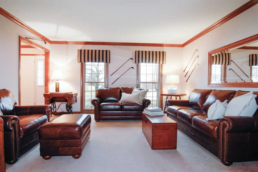 Real Estate Photography - 420 Apple River Dr, Naperville, IL, 60565 - Living Room