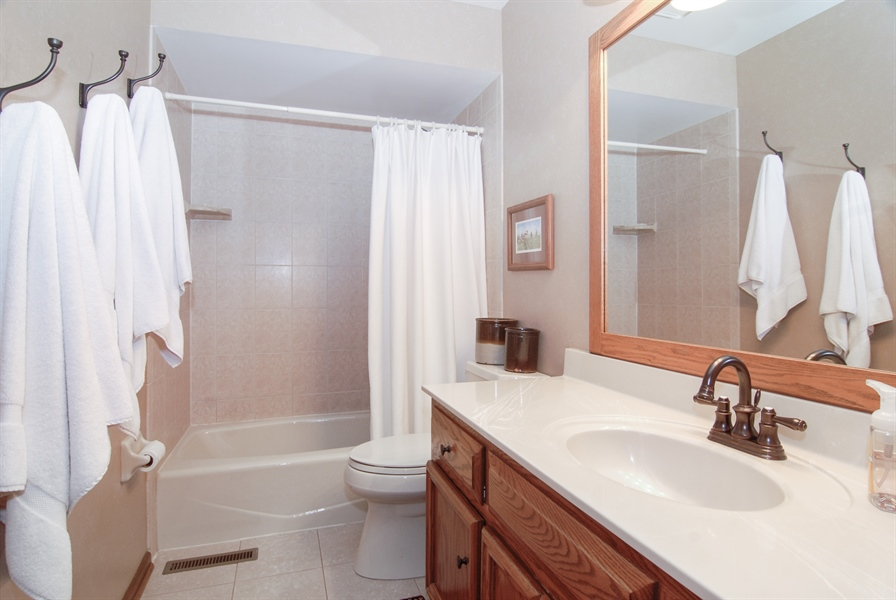 Real Estate Photography - 420 Apple River Dr, Naperville, IL, 60565 - 2nd Bathroom