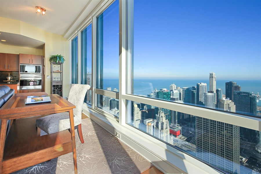 Real Estate Photography - 401 Wabash, Unit 55G, Chicago, IL, 60611 - View