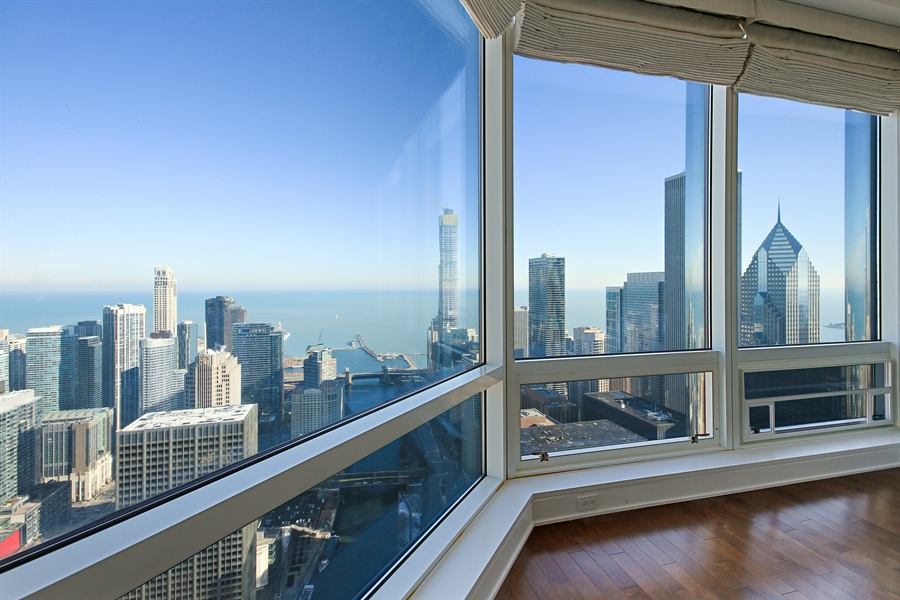 Real Estate Photography - 401 Wabash, Unit 55G, Chicago, IL, 60611 - Master Bedroom