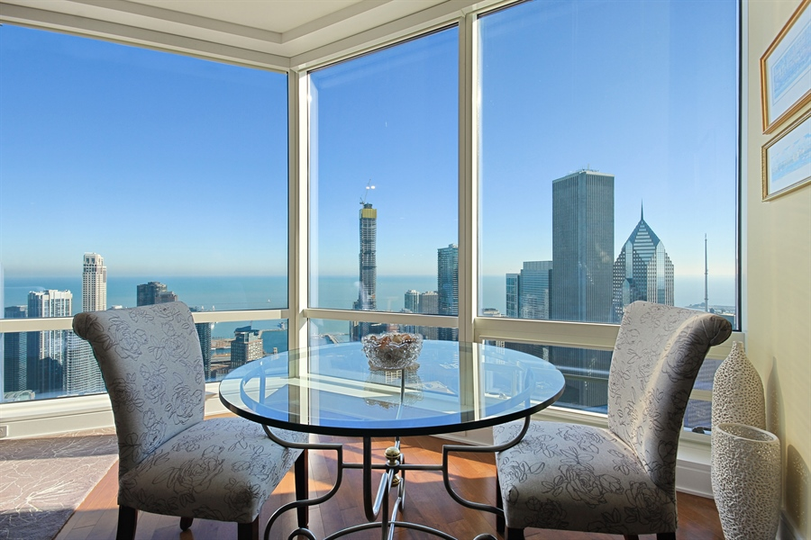 Real Estate Photography - 401 Wabash, Unit 55G, Chicago, IL, 60611 - Dining Room