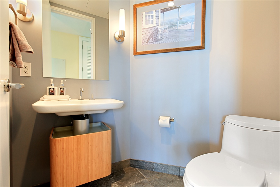 Real Estate Photography - 401 Wabash, Unit 55G, Chicago, IL, 60611 - Bathroom
