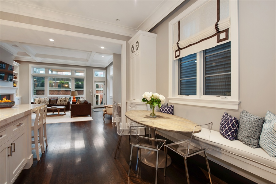 Real Estate Photography - 1838 N Hudson Ave, Chicago, IL, 60614 - Breakfast Nook