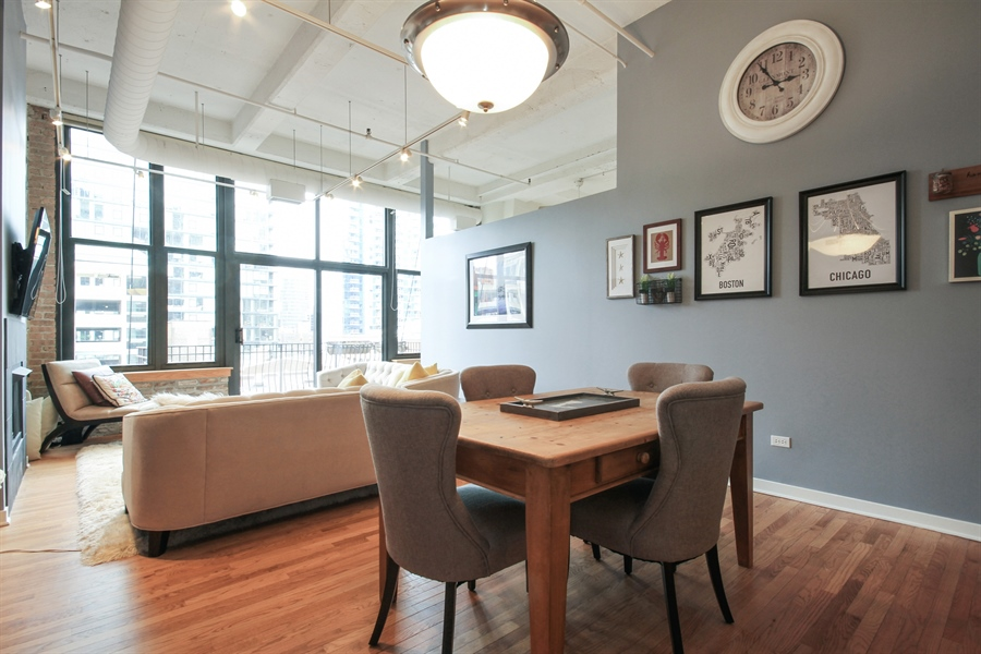 Real Estate Photography - 333 W Hubbard, unit E, Chicago, IL, 60607 - Dining Room