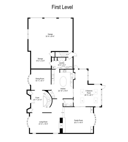 Real Estate Photography - 1 Orchard Ln, Golf, IL, 60029 - Floor Plan