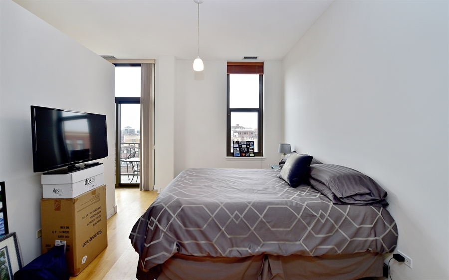 Real Estate Photography - 15 S. Throop, 602, Chicago, IL, 60607 - Bedroom