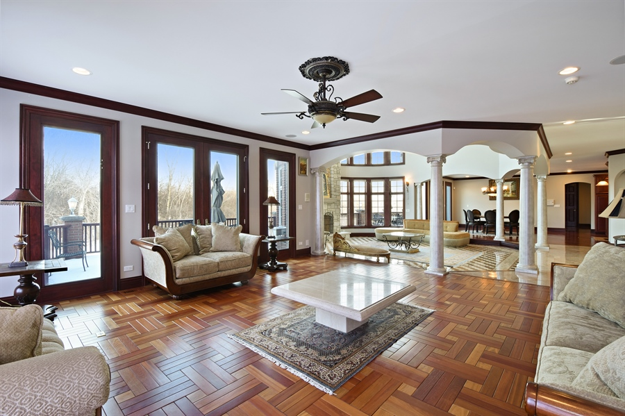 Real Estate Photography - 2 Beacon Hill Drive, South Barrington, IL, 60010 - Living Room