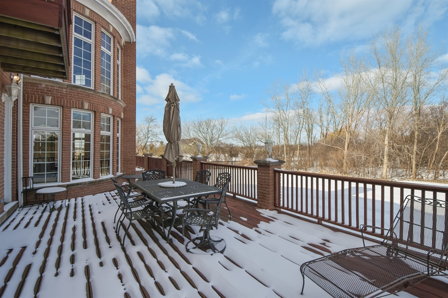 Real Estate Photography - 2 Beacon Hill Drive, South Barrington, IL, 60010 - Deck