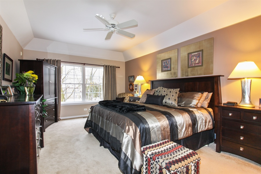 Real Estate Photography - 1201 Ashbrook, Darien, IL, 60561 - Master Bedroom