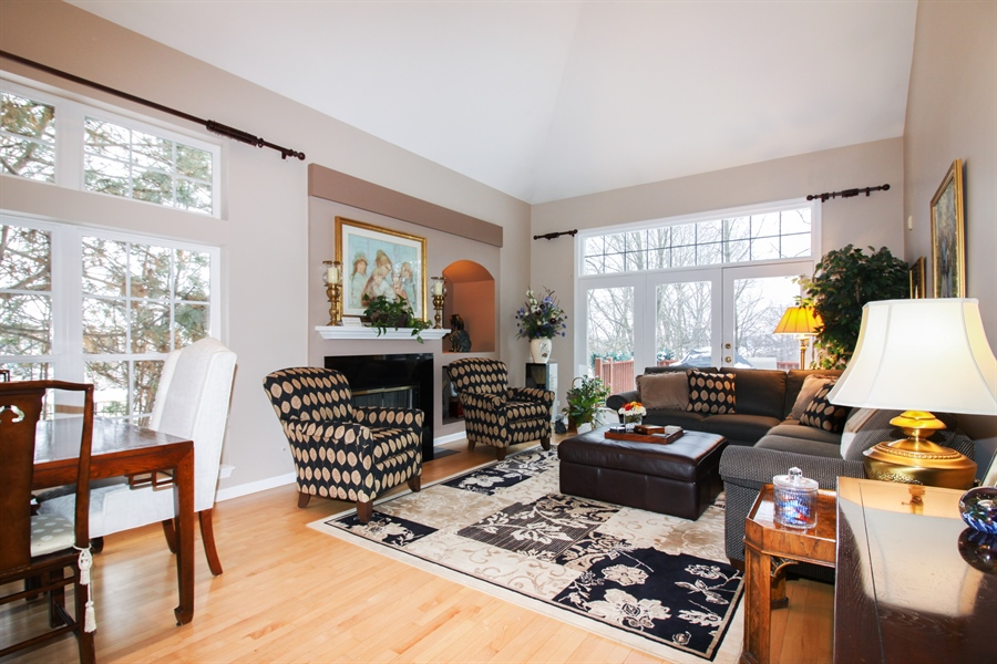 Real Estate Photography - 1201 Ashbrook, Darien, IL, 60561 - Living Room / Dining Room