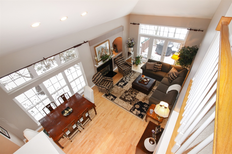 Real Estate Photography - 1201 Ashbrook, Darien, IL, 60561 - Living Room/Dining Room
