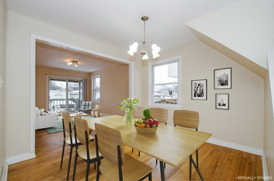 Real Estate Photography - 2033 Oakton Ave, Evanston, IL, 60202 - Family Room / Dining Room
