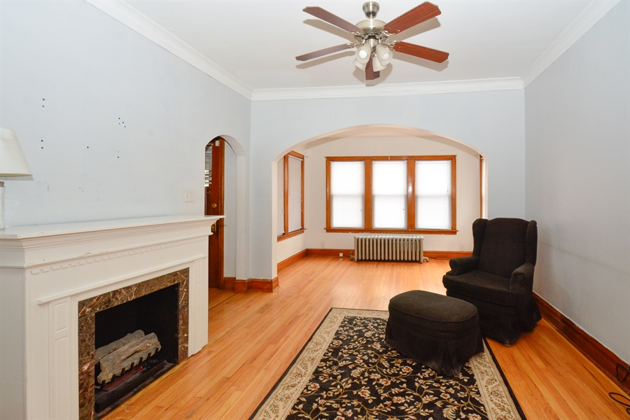 Real Estate Photography - 6332 S Kolin, Chicago, IL, 60629 - Living Room