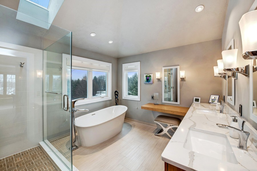 Real Estate Photography - 8044 W Poplar Drive, mequon, WI, 53097 - Master Bathroom