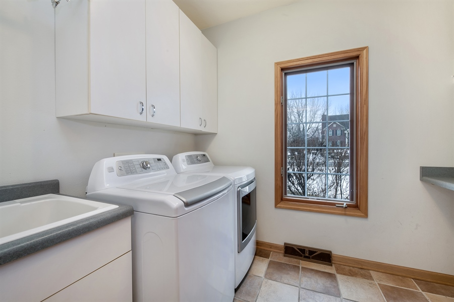 Real Estate Photography - 8044 W Poplar Drive, mequon, WI, 53097 - Laundry Room
