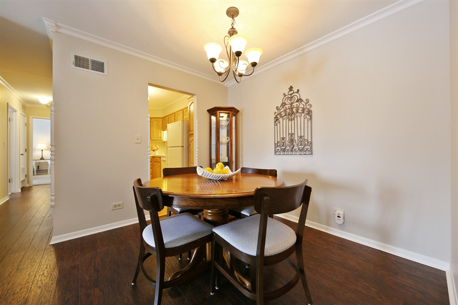Real Estate Photography - 7373 BLACKBURN, 202, DOWNERS GROVE, IL, 60516 - Dining Room