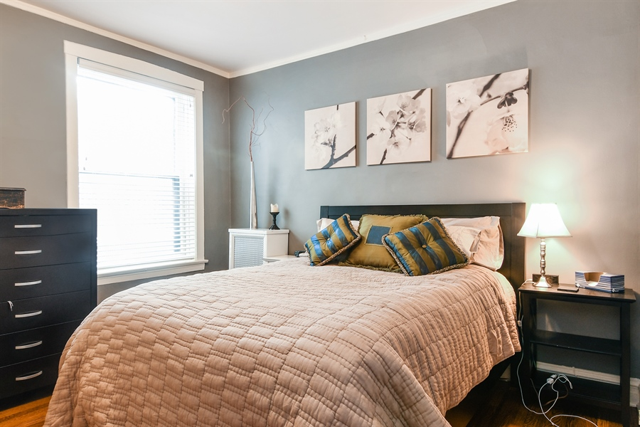Real Estate Photography - 745 W Brompton, 2S, Chicago, IL, 60657 - 2nd Bedroom