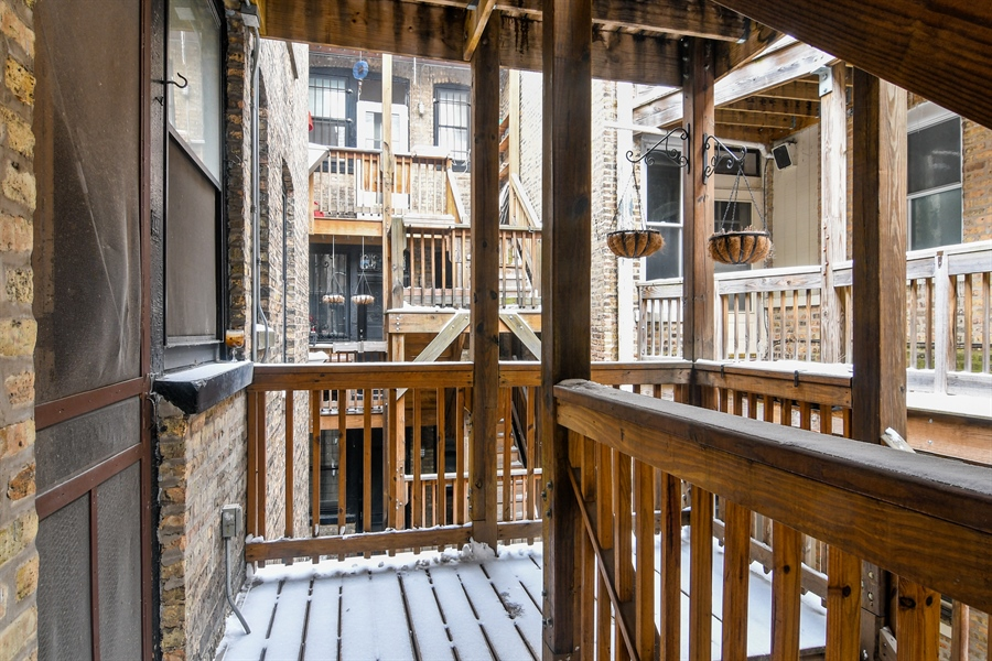 Real Estate Photography - 745 W Brompton, 2S, Chicago, IL, 60657 - Deck