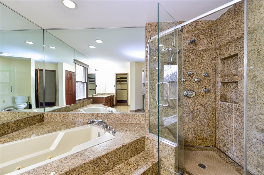 Real Estate Photography - 820 Red Stable Way, Oak Brook, IL, 60523 - Master Bathroom