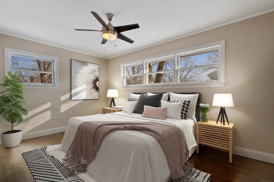 Real Estate Photography - 1346 London, Glenview, IL, 60025 - Master Bedroom