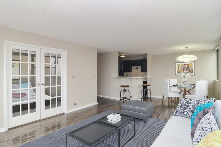 Real Estate Photography - 2700 N Hampden, Unit 15B, Chicago, IL, 60614 - Living Room