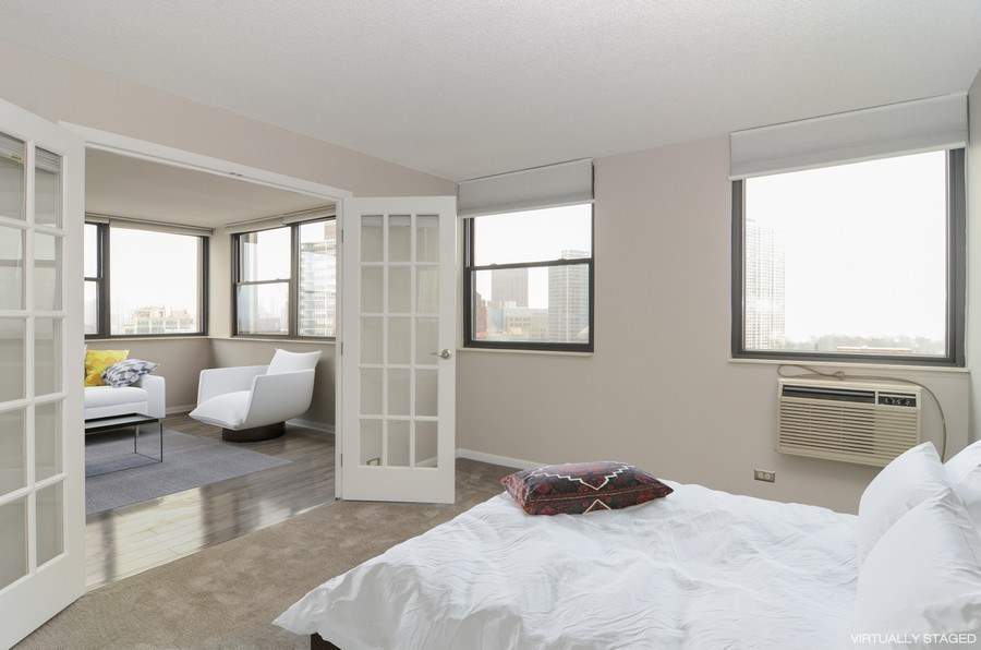 Real Estate Photography - 2700 N Hampden, Unit 15B, Chicago, IL, 60614 - 2nd Bedroom