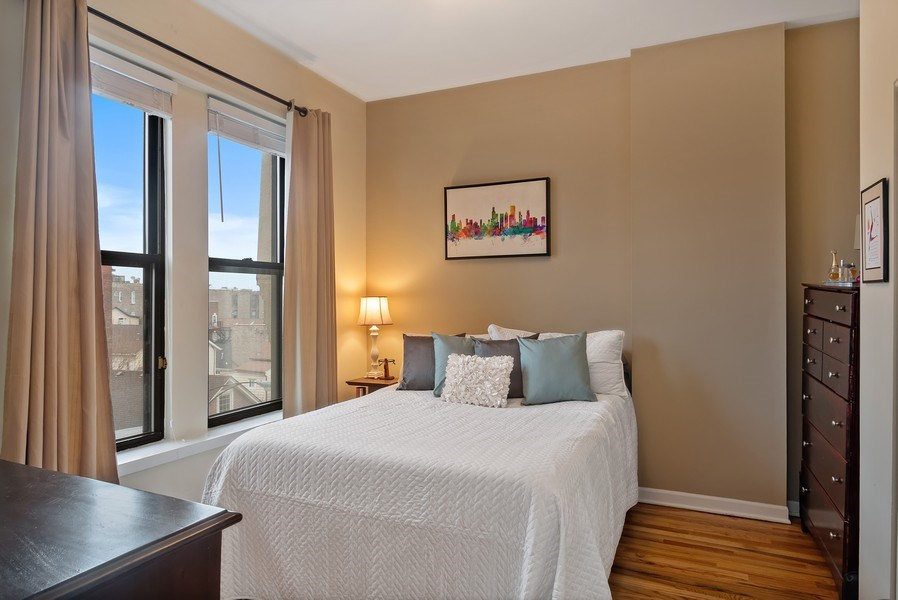 Real Estate Photography - 1367 W. Erie, Unit 4, Chicago, IL, 60642 - Master Bedroom