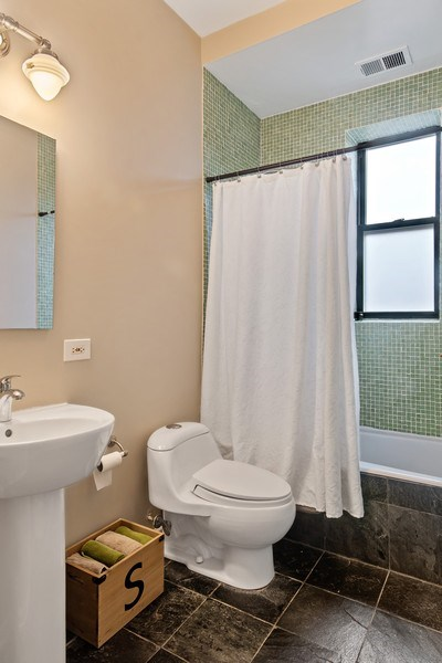 Real Estate Photography - 1367 W. Erie, Unit 4, Chicago, IL, 60642 - Bathroom