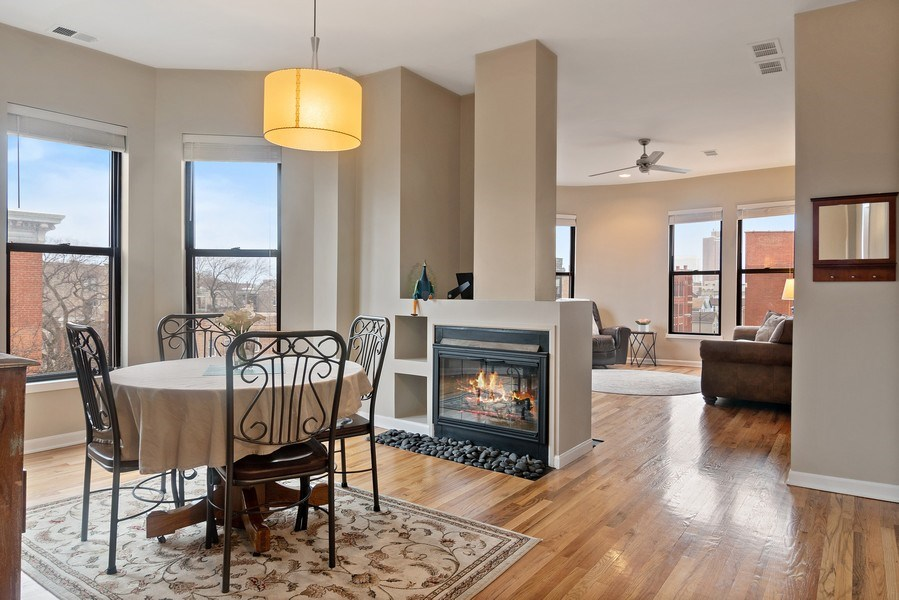 Real Estate Photography - 1367 W. Erie, Unit 4, Chicago, IL, 60642 - Living Room / Dining Room