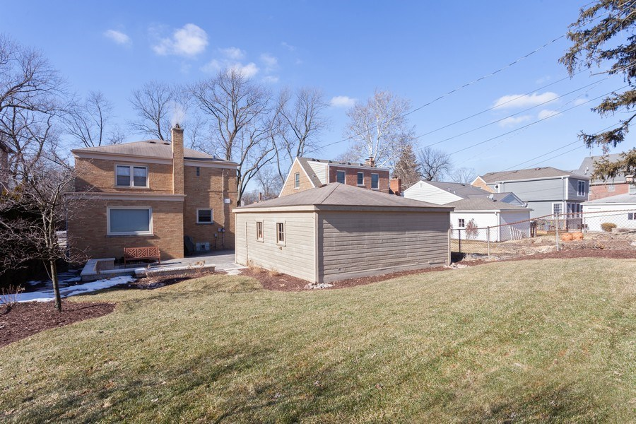 Real Estate Photography - 4205 Western Ave, Western Springs, IL, 60558 - Rear View