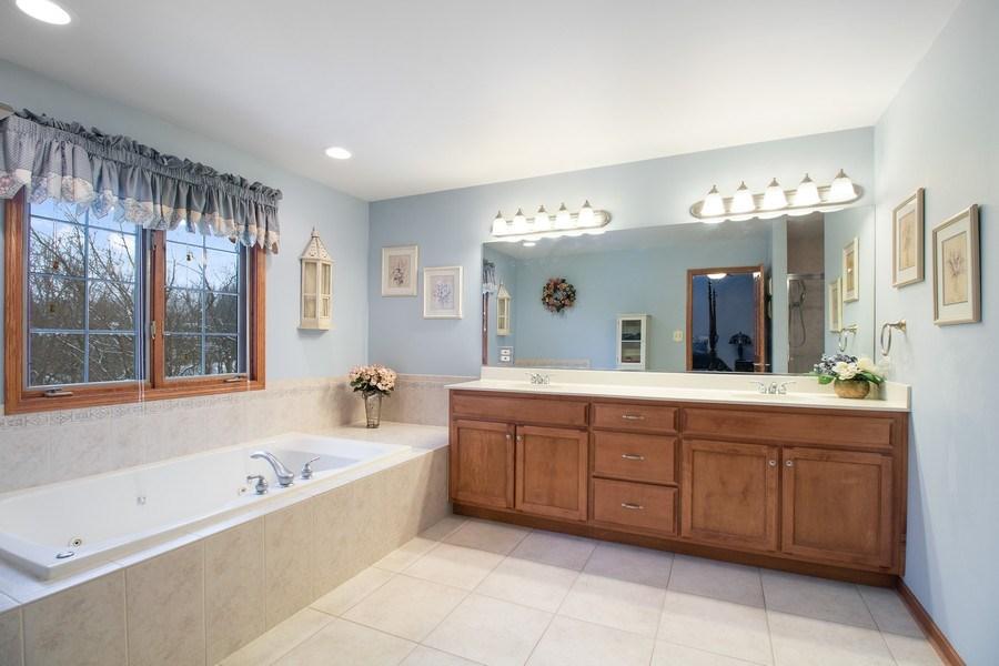 Real Estate Photography - 16220 Ridgewood, Homer Glen, IL, 60491 - Master Bathroom