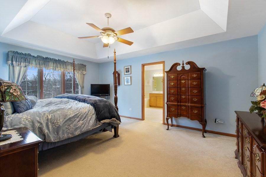 Real Estate Photography - 16220 Ridgewood, Homer Glen, IL, 60491 - Master Bedroom