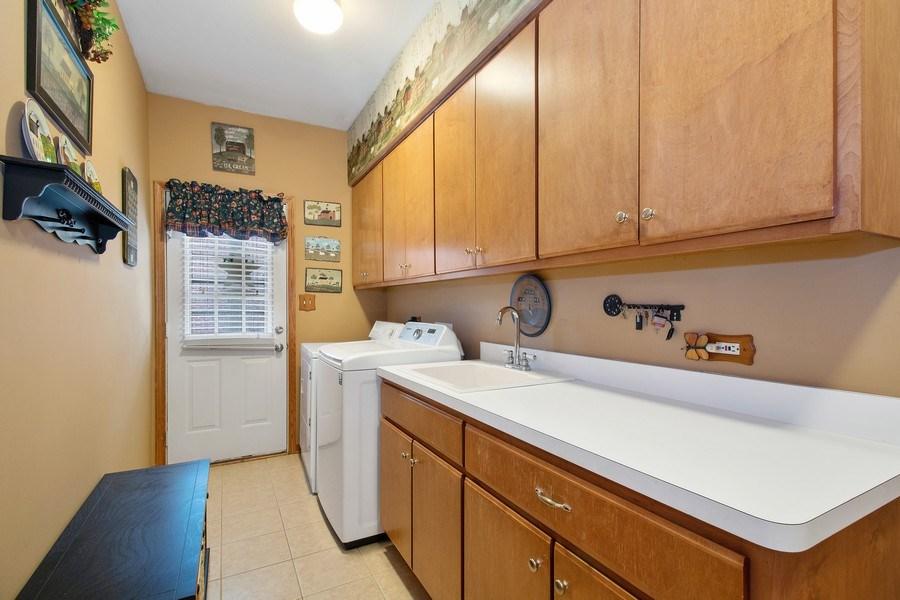 Real Estate Photography - 16220 Ridgewood, Homer Glen, IL, 60491 - Laundry Room