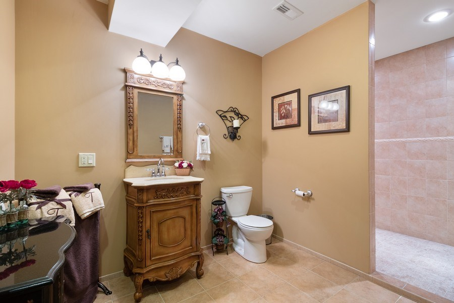 Real Estate Photography - 16220 Ridgewood, Homer Glen, IL, 60491 - Bathroom