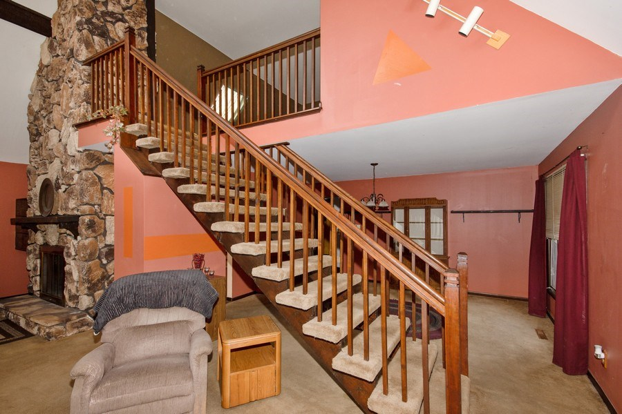 Real Estate Photography - 10869 W 3000 North Rd, Bonfield, IL, 60913 - Staircase
