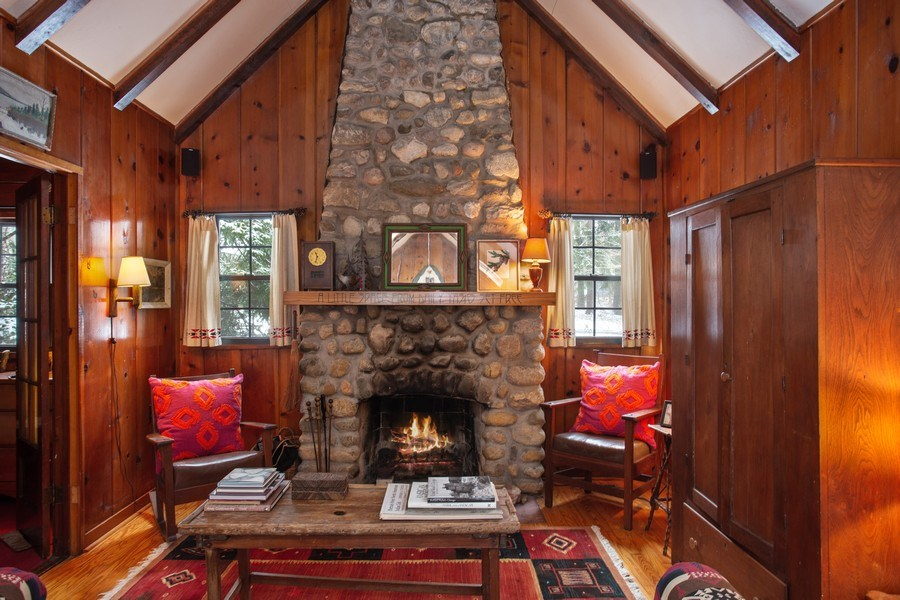 Real Estate Photography - 316 Dreamworld Way, Michiana Shores, IN, 46360 - Living Room