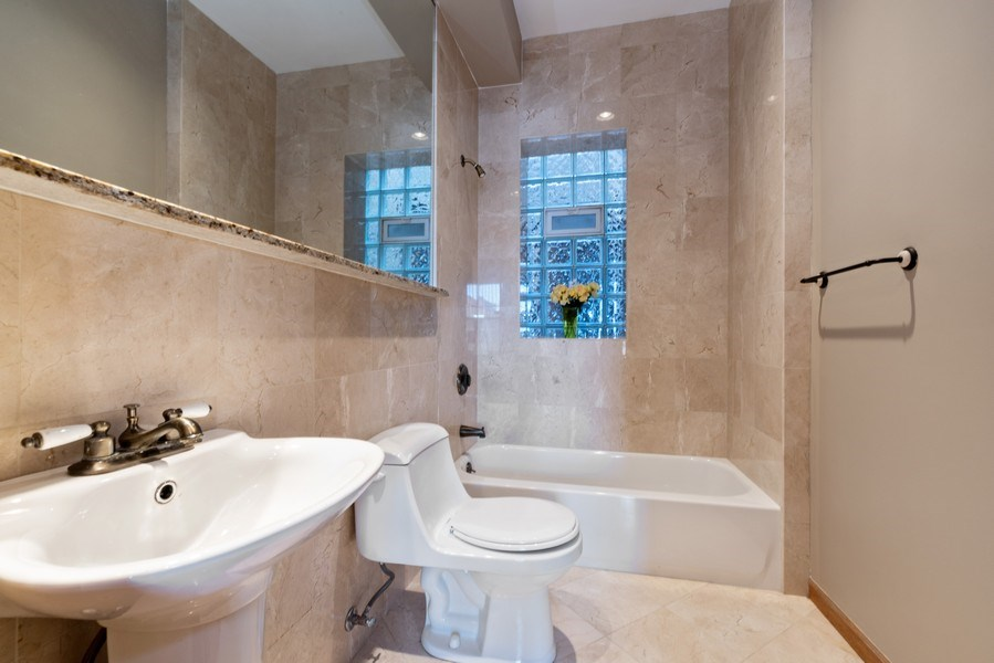 Real Estate Photography - 5356 S Indiana, #2S, Chicago, IL, 60615 - Master Bathroom