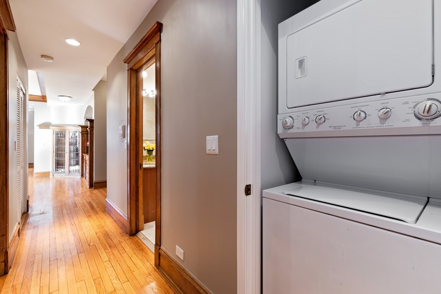 Real Estate Photography - 5356 S Indiana, #2S, Chicago, IL, 60615 - Laundry Room