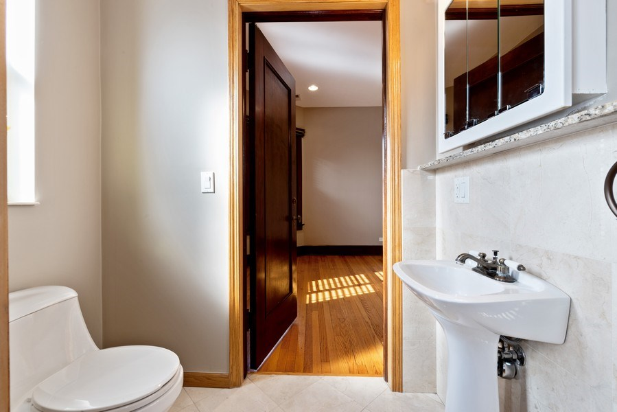 Real Estate Photography - 5356 S Indiana, #2S, Chicago, IL, 60615 - Half Bath
