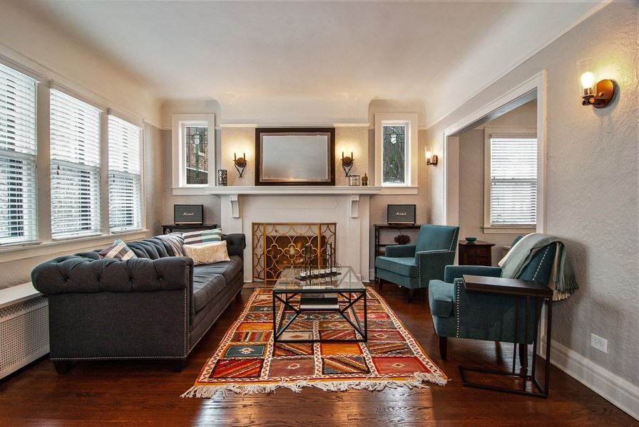 Real Estate Photography - 510 Berkeley Rd, Riverside, IL, 60546 - Living Room