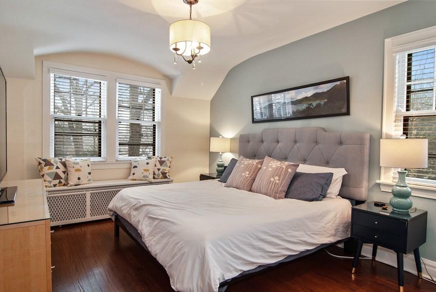 Real Estate Photography - 510 Berkeley Rd, Riverside, IL, 60546 - Master Bedroom