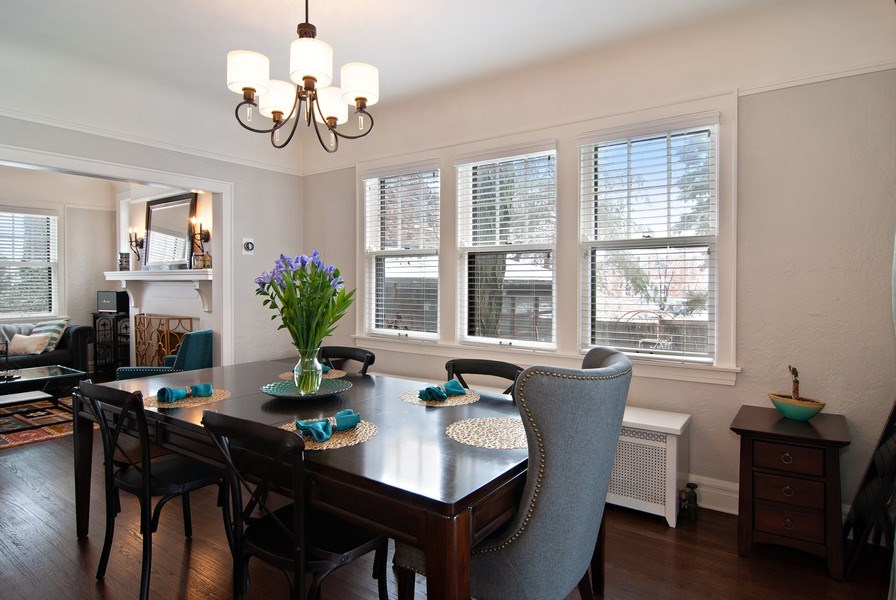 Real Estate Photography - 510 Berkeley Rd, Riverside, IL, 60546 - Dining Area