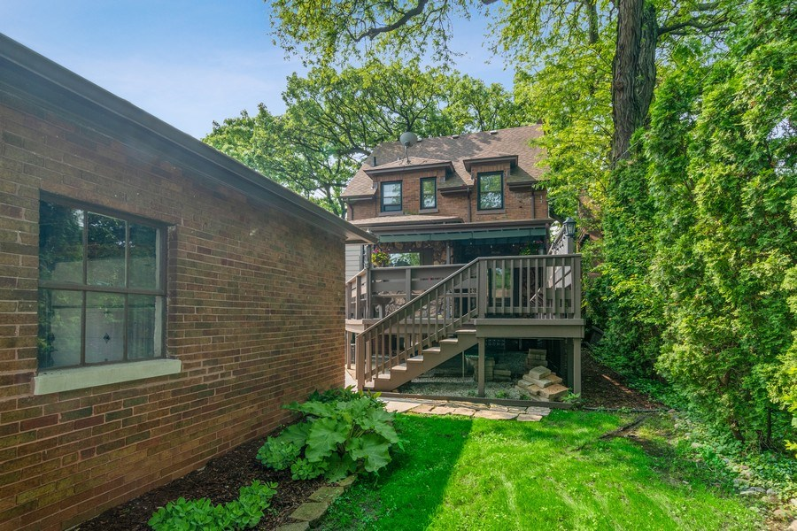 Real Estate Photography - 510 Berkeley Rd, Riverside, IL, 60546 - Rear View