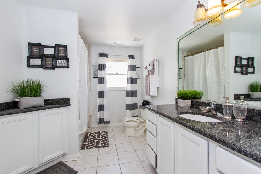 Real Estate Photography - 14 Pembrook Ct, Flossmoor, IL, 60422 - 2nd Bathroom