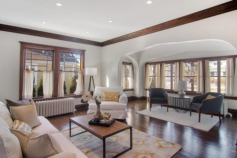 Real Estate Photography - 797 Laurel, Des Plaines, IL, 60016 - Living Room