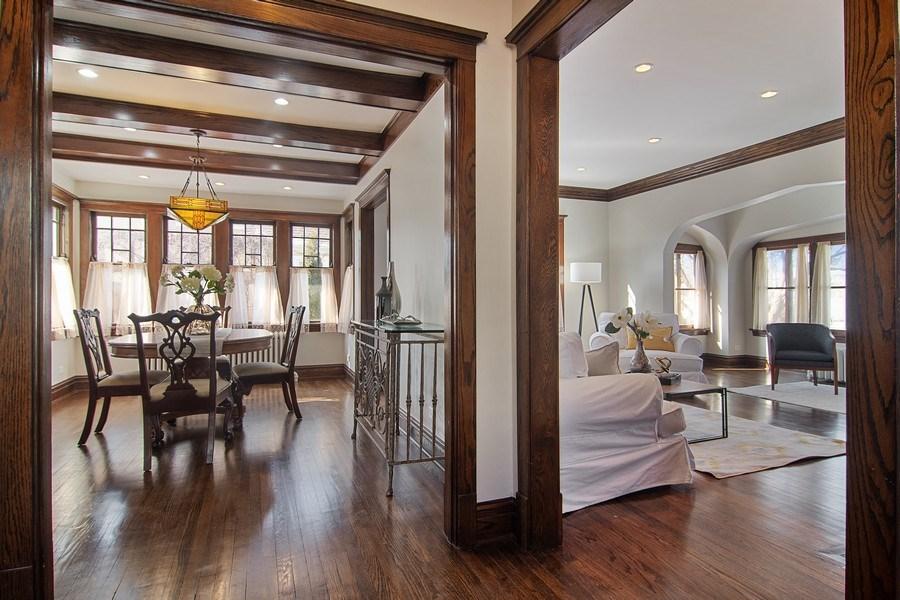 Real Estate Photography - 797 Laurel, Des Plaines, IL, 60016 - Living Room / Dining Room
