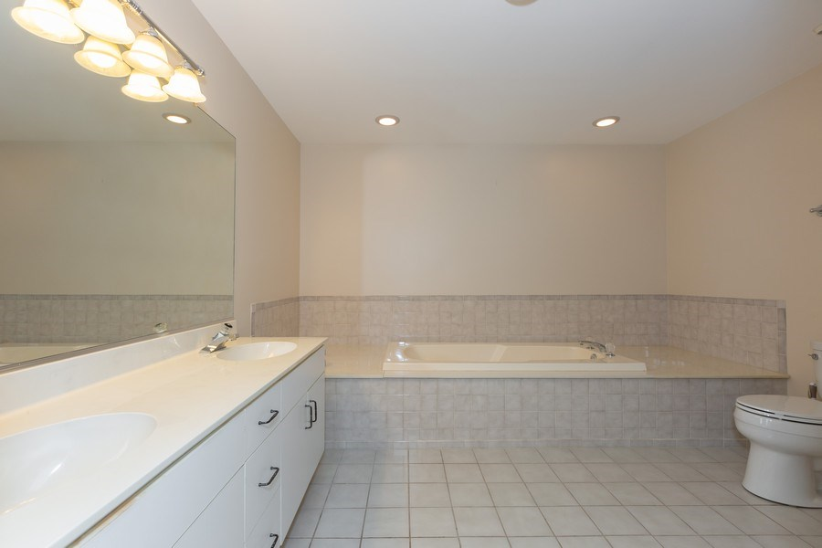 Real Estate Photography - 1115 Mistwood Lane, Downers Grove, IL, 60515 - Master Bathroom (alternate view)