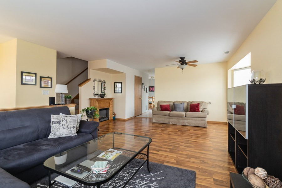 Real Estate Photography - 1434 Fox Hound Trail, Beecher, IL, 60401 - Living Room